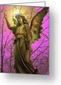 Engill Mixed Media Greeting Cards - Angel of Bless No. 02 Greeting Card by Ramon Labusch