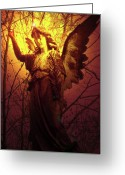 Seraphim Angel Greeting Cards - Angel of Bless No. 03 Greeting Card by Ramon Labusch