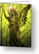 Engill Mixed Media Greeting Cards - Angel of Bless No. 04 Greeting Card by Ramon Labusch