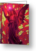 Engill Mixed Media Greeting Cards - Angel of Blesss No. 05 Greeting Card by Ramon Labusch