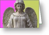Engill Mixed Media Greeting Cards - Angel of Devotion No. 03 Greeting Card by Ramon Labusch