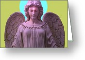 Engill Mixed Media Greeting Cards - Angel of Devotion No. 04 Greeting Card by Ramon Labusch