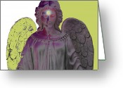 Engill Mixed Media Greeting Cards - Angel of Devotion No. 06 Greeting Card by Ramon Labusch