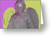 Engill Mixed Media Greeting Cards - Angel of Devotion No. 07 Greeting Card by Ramon Labusch