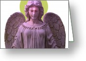 Engill Mixed Media Greeting Cards - Angel of Devotion No. 08 Greeting Card by Ramon Labusch