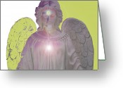 Engill Mixed Media Greeting Cards - Angel of Devotion No. 09 Greeting Card by Ramon Labusch