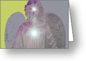 Engill Mixed Media Greeting Cards - Angel of Devotion No. 11 Greeting Card by Ramon Labusch