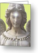 Engill Mixed Media Greeting Cards - Angel of Devotion No. 12 Greeting Card by Ramon Labusch