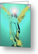 Seraphim Angel Greeting Cards - Angel of Harmony No. 05 Greeting Card by Ramon Labusch