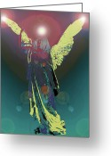 Engill Mixed Media Greeting Cards - Angel of Harmony No. 06 Greeting Card by Ramon Labusch
