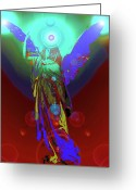 Engill Mixed Media Greeting Cards - Angel of Harmony No. 07 Greeting Card by Ramon Labusch