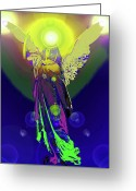 Engill Mixed Media Greeting Cards - Angel of Harmony No. 09 Greeting Card by Ramon Labusch