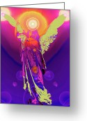 Engill Mixed Media Greeting Cards - Angel of Harmony No. 10 Greeting Card by Ramon Labusch