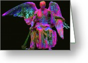 Seraphim Angel Greeting Cards - Angel of Justice No. 01 Greeting Card by Ramon Labusch