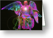 Seraphim Angel Greeting Cards - Angel of Justice No. 02 Greeting Card by Ramon Labusch