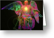 Seraphim Angel Greeting Cards - Angel of Justice No. 03 Greeting Card by Ramon Labusch