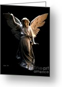 Religious Artist Digital Art Greeting Cards - Angel of Light Greeting Card by Dale   Ford