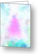 Anjo Greeting Cards - Angel of Light Greeting Card by Rosana Ortiz