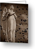 Arms Folded Greeting Cards - Angel of Stone S Greeting Card by David Dehner