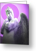 Engill Mixed Media Greeting Cards - Angel of Youth No. 02 Greeting Card by Ramon Labusch