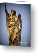 Orleans Pyrography Greeting Cards - Angel on High Greeting Card by Brad Leese