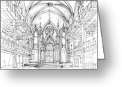 Commission Greeting Cards - Angel Orensanz sketch 2 Greeting Card by Lee-Ann Adendorff