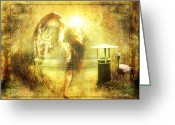 Ym_art Greeting Cards - Angel Spirit Greeting Card by Yvon -aka- Yanieck  Mariani