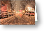Alexandria Greeting Cards - Angelic Snow Greeting Card by JC Findley