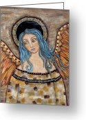Angel Pastels Greeting Cards - Angelica Greeting Card by Rain Ririn