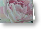 Tulips Pastels Greeting Cards - Angelique Greeting Card by Marie-Claire Dole