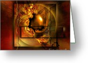 Light  Digital Art Greeting Cards - Angelos Greeting Card by Franziskus Pfleghart