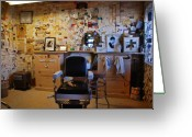 The Mother Road Greeting Cards - Angels Barber Shop on Route 66 Greeting Card by Susanne Van Hulst