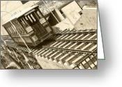 Incline Digital Art Greeting Cards - Angels Flight Greeting Card by Jason Abando