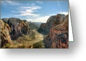 Physical Geography Greeting Cards - Angels Landing - Zion National Park Greeting Card by Bryant Scannell