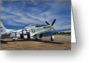 P-51 Mustang Greeting Cards - Angels Playmate  Greeting Card by Steven Richardson