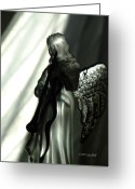 Angel Statue Greeting Cards - Angels We Have Heard Greeting Card by Donna Blackhall