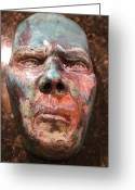 Man Ceramics Greeting Cards - Anger Greeting Card by Donovan  Hettich