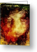 Rage Greeting Cards - Anger Greeting Card by Gun Legler