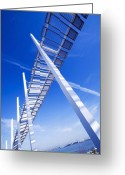 Blue Blocks Greeting Cards - Angle View Greeting Card by Svetlana Sewell