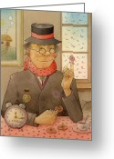 Clock Drawings Greeting Cards - Angleman07 Greeting Card by Kestutis Kasparavicius