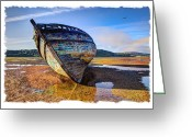 Shipwreck Greeting Cards - Anglesey Shipwreck Greeting Card by Mal Bray