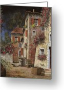 Door Greeting Cards - Angolo Buio Greeting Card by Guido Borelli
