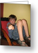 Gestures Greeting Cards - Angry Boy Pointing the Accusing Finger Greeting Card by Purcell Pictures