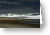 Nauset Beach Greeting Cards - Angry Nauset Greeting Card by Dapixara Art
