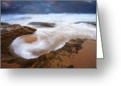 Knight Greeting Cards - Angry Sea Greeting Card by Mike  Dawson