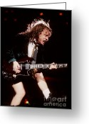 Acdc Greeting Cards - Angus Greeting Card by David Plastik