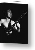 Spokane Greeting Cards - Angus Young in Spokane 2 Greeting Card by Ben Upham