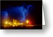 "\""lightning Strike\\\"" Greeting Cards - Anheuser-Busch On Strikes Greeting Card by James Bo Insogna"