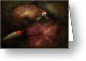 Kingyo Greeting Cards - Animal - Fish - I will grant your wishes three Greeting Card by Mike Savad