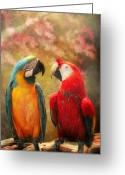 Travel Agent Greeting Cards - Animal - Parrot - Well always have parrots Greeting Card by Mike Savad